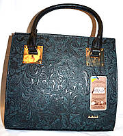 Женская синяя каркасная сумка B Elit с перфорацией 31*28