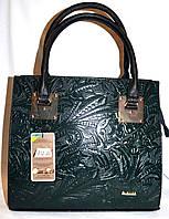 Женская черная каркасная сумка B Elit с перфорацией 31*28