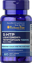 5-гидрокситриптофан, Puritan's Pride 5-HTP 100 mg (Griffonia Simplicifolia) 60 Capsules