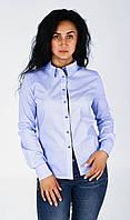 Стильная женская рубашка небесного оттенка, фото 1