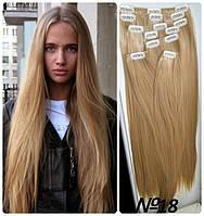 Волосы трессы ТЕРМо на заколках набор из 7 прядей 55 см №18