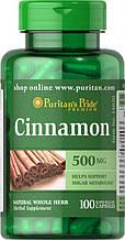 Puritan's Pride Cinnamon 500 mg 100 Capsules