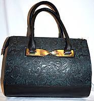 Женская комбинированая каркасная сумка с перфорацией B Elit без ремешка 26*33