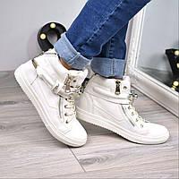 Ботинки женские Stone белые 3588, ботинки женские, фото 1