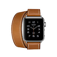 Apple Watch Hermés 38mm Stainless Steel Case with Fauve Barenia Leather Double Tour