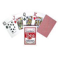 Карты игральные Bee Jumbo index Red (красные)