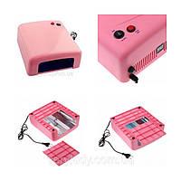 Ультрафиолетовая лампа для наращивания ногтей 818, розовая (36 ватт)