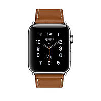 Apple Watch Hermés 42mm Stainless Steel Case with Fauve Barenia Leather Single Tour