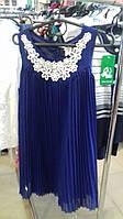 Нарядное платье-сарафан девочка Lily Lola на 4 года синее