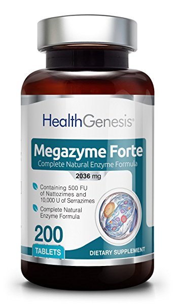 Ферменти підшлункової залози , Health Genesis, Megazyme Forte 200 tabs