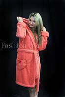 Женский теплый махровый халат(турецкая махра)