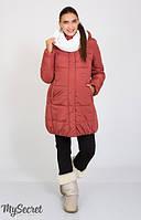 Очень теплая и стильная зимняя куртка для беременных из плотной текстурированной плащевки