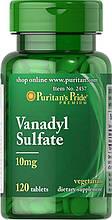 Puritan's Pride Vanadyl Sulfate 10 mg 120 Tablets