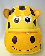 """Рюкзак игрушка детский мягкий"""" Жираф """" из неопрена для школы,детсада,в поездку"""