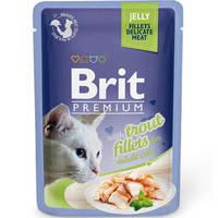 Brit Premium Кусочки из филе форели в желе 85 гр.