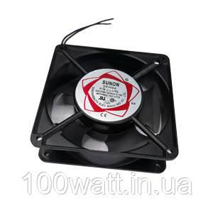 Вентилятор на вытяжку черный(алюминиевый)150*150*50 ST226