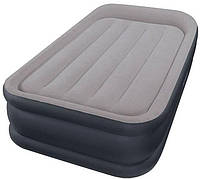 Односпальная надувная кровать Intex + встроенный электронасос 220V 99х191х42 см (64132)