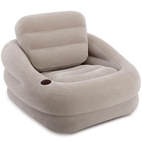 Надувне крісло велюрове Intex 97х107х71 см (68587)