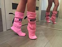 Женские домашние флисовые сапожки  Moschino