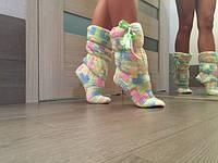 Женские домашние махровые сапожки,тепло и уют!