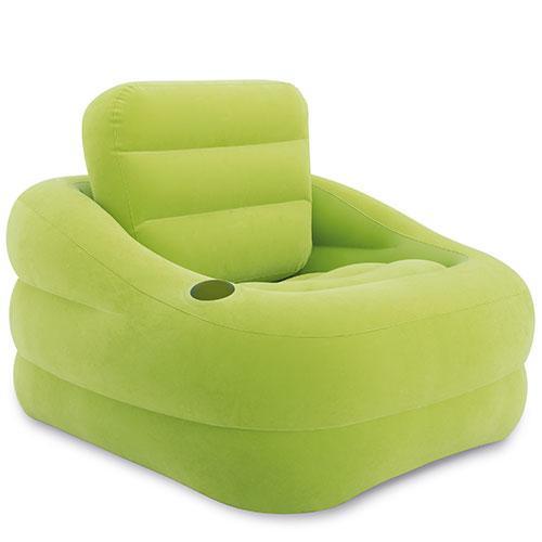 Надувное велюровое кресло Intex 97х107х71 см (68586)