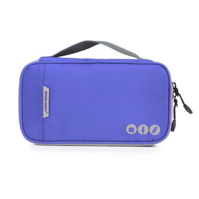 Фиолетовый многофункциональный органайзер для гаджетов