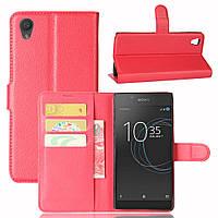 Чехол Sony Xperia L1 / G3311 / G3312 / G3313 книжка PU-Кожа красный