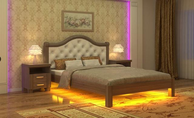 Кровать Екатерина с подсветкой