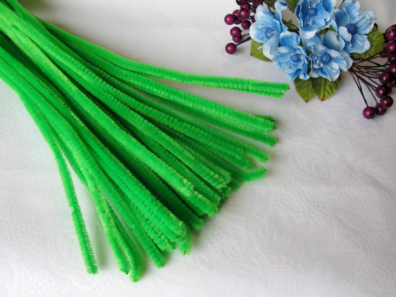 Синельная Проволока Светло Зеленая 30 см