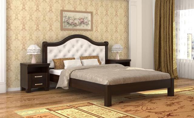 Кровать Екатерина орех темный