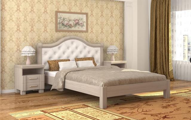 Кровать Екатерина шамони светлый