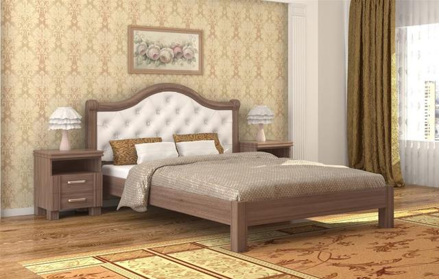 Кровать Екатерина шамони темный