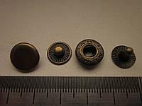 Кнопка альфа 12,5мм антик