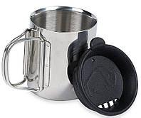 Термокружка с крышкой Tatonka Thermo 250 на 0.25 л из нержавеющей стали, цвет черный/стальной TAT 4080.000