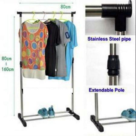 Вешалка для одежды складная Single Pole Clothes Horse
