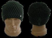 Мужская шапка зимняя, флис м 7035, разные цвета (В.И.В.)
