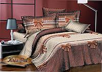 """Нежный комплект постельного белья """"Бантик"""". Размер двуспальный Евро 200*220."""