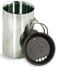 Термокружка с крышкой Tatonka Thermo 350 на 0.35 л из нержавеющей стали, цвет черный/стальной TAT 4081.000
