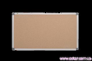 Доска пробковая ABC (100x65), в алюм.рамке S-line [abc_136510]