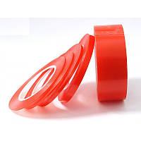 Скотч двухсторонний Красный (ширина 0,3 см)