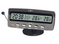 Автомобильные часы VST 7045 с термометром и подсветкой