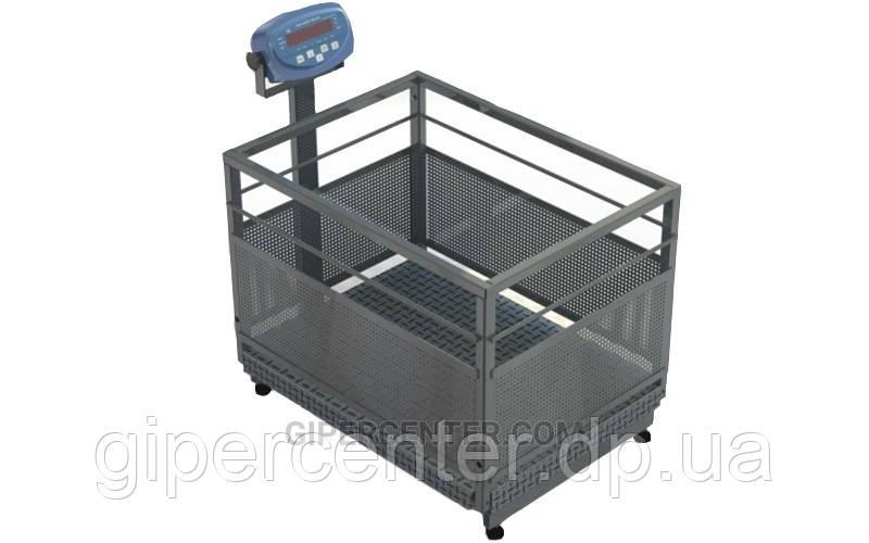 Весы до 300 кг для взвешивания свиней и поросят BDU300C-0608X бюджет