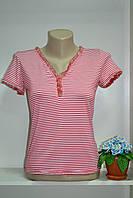Женская летняя стрейч футболка в полосочку, фото 1