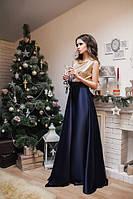 Женское нарядное платье в пол,паетки+атлас.Фото реальное!