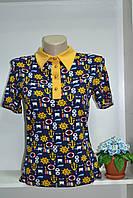 Женская летняя футболка с отложным воротником МОРЯЧКА, фото 1