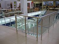 Перила с заполнением из стекла, фото 1