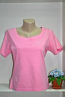 Женская летняя хлопковая футболка простого пошива, фото 1