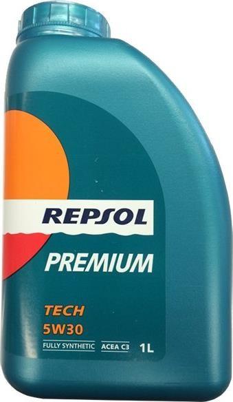 Моторное масло REPSOL PREMIUM TECH 5W30 (1л) синтетика для автомобилей