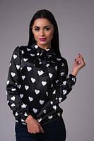 Женская блузка,атласная на завязках!Отличное качество! 4 цвета!