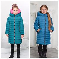 Детская зимняя куртка с капюшоном | Пуховик для девочки